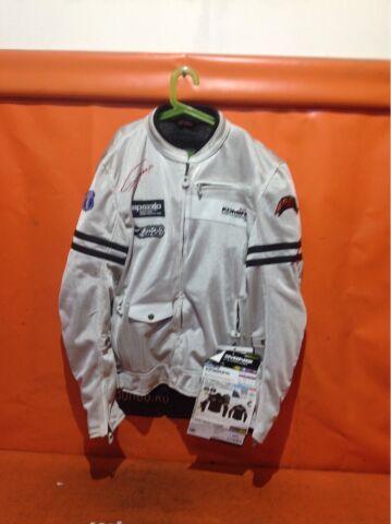 мотокуртка Komine JK-301, белая, 3XL