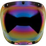 Визор на 3 заклепки Biltwell Bubble anti-fog радужный зеркальный    купить по цене 2970 р.