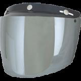 Визор на 3 заклепки Afx серебряный зеркальный