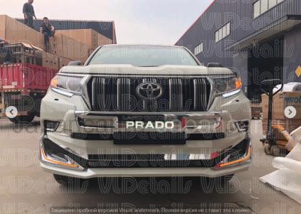 Передняя губа на Toyota Land Cruiser Prado во Владивостоке