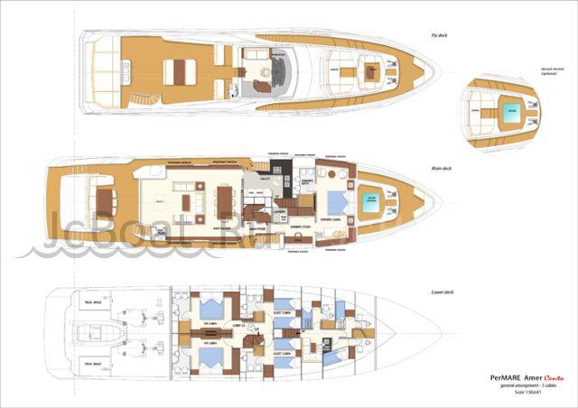 яхта моторная AMER 100 - PERMARE 2013 года