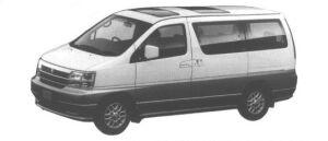 Nissan Elgrand CARAVAN V (2WD V6-3300 GASOLINE) 1998 г.