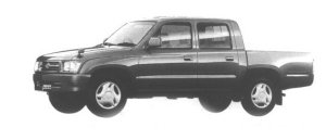 Toyota Hilux SPORT PICKUP 2WD DOUBLE CAB NORMAL BODY 1998 г.