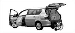 Toyota Ipsum Welcab Passenger Seat Lift-up Car,B type 2003 г.