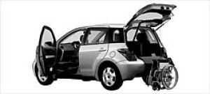 Toyota Ist Welcab Pass. Swivel Seat with Slide Car 2003 г.