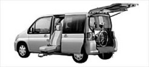 Honda Mobilio ALMAS, Side Lift-up seat version W FF 2003 г.