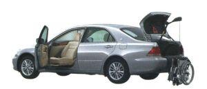 Toyota Crown ROYAL Welcab,Full Automatic Passenger Swivel Slide Seat Car B type 2006 г.