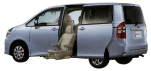 Toyota Noah Welcab, Side Lift-up Seat Vehicle (Standard type) 2014 г.
