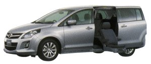 Mazda MPV 23S Second Lift-up Seat Vehicle 2014 г.