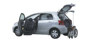 Toyota Vitz Welcab Passenger Lift-up Car, B type 2006 г.