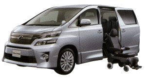 Toyota Vellfire Welcab, Side Lift-up Seat Vehicle (Detachable type) 2014 г.