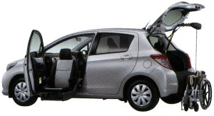 Toyota Vitz Welcab, Passenger Lift-up Seat Vehicle, B type 2014 г.