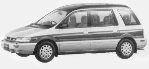 Mitsubishi Chariot SUPER MX CRISTAL LIGHT ROOF 4WD 1993 г.