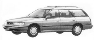 Subaru Legacy 4WD TOURING WAGON 1.8L TI 1992 г.
