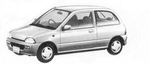 Subaru Vivio 3DOOR SEDAN EX ECVT 1992 г.