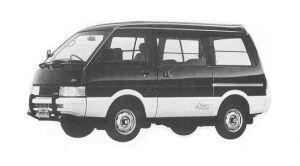 Nissan Vanette VAN 4WD DIESEL 2000 MID ROOF VX-YU 1992 г.