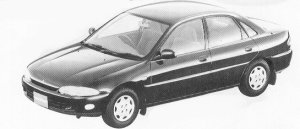 Mitsubishi Mirage 4DOOR VIE 4WD DIESEL TURBO 1992 г.