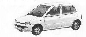 Subaru Vivio 5DOOR SEDAN EF 5MT 1992 г.