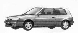 Nissan Pulsar 3DOOR HATCH BACK 1600X1R 1992 г.