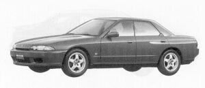 Nissan Skyline 4DOOR SPORT SEDAN GTS-T TYPE-M 1992 г.