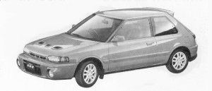 Mazda Familia 3DOOR HB GT-R 1992 г.
