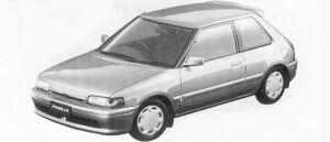 Mazda Familia 3DOOR HB 1500 DOHC 16VALVE INTERPLAY 1992 г.