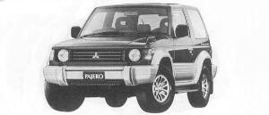 Mitsubishi Pajero METAL TOP WIDE XR-II 1992 г.