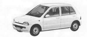 Subaru Vivio 4WD 5DOOR SEDAN EF 5MT 1992 г.