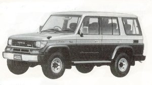 Toyota Land Cruiser Prado WAGON 4DOOR SX WIDE 1992 г.