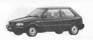 Subaru Justy FF 3DOOR MYME-A 1990 г.