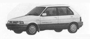 Subaru Justy 4WD 5DOOR MYMEII ECVT 1990 г.