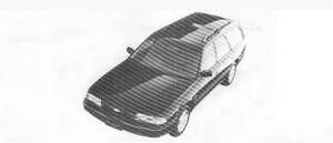 Mazda Ford Telstar WAGON 2000DOHC FULL TIME 4WD GT 1990 г.