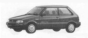 Subaru Justy FF 3DOOR MYME ECVT 1990 г.