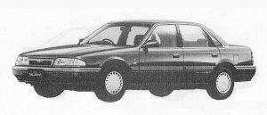 Mazda Ford Telstar SEDAN 4WD FULL TIME 1800DOHC GHIA 1990 г.
