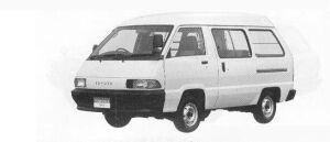 Toyota Townace VAN 2WD HIGH ROOF 5DOOR 2000 DIESEL GL 1990 г.