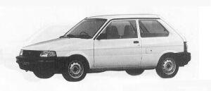 Subaru Justy FF 3DOOR L 1990 г.
