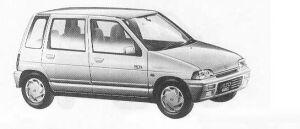 Suzuki Alto 5DOOR EX-S 1990 г.