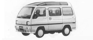 Mitsubishi Minicab BRAVO CX SUPER AEROROOF 1990 г.