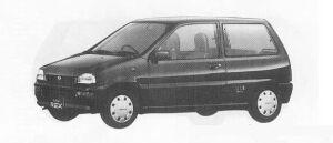 Subaru REX 3DOOR SEDAN FARIAII ECVT 1990 г.