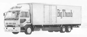 Nissan Big Thumb DIESELCW3 (6*4) 1990 г.