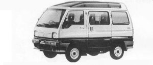 Mitsubishi Minicab BRAVO 4WD CX SUPER AEROROOF 1990 г.