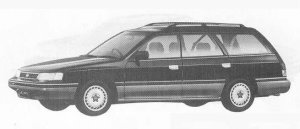Subaru Legacy 4WD TOURING WAGON 2.0L VZ 1990 г.