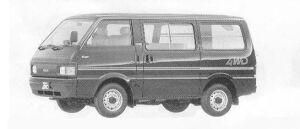 Mazda Bongo VAN 4WD STANDARD ROOF 2200DE 4DOOR LG 1990 г.