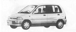 Mitsubishi Minica 5DOOR G 1990 г.