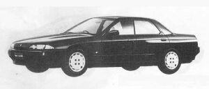 Nissan Skyline 4DOOR SPORT SEDAN GTS URBAN ROAD 1990 г.