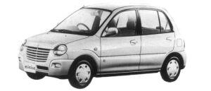 Mitsubishi Minica 5DOOR PJ 1997 г.