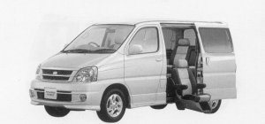 Toyota Touring Hiace WELCAB, SIDE LIFT-UP SEAT CAR 1999 г.
