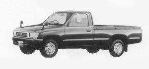 Toyota Hilux FOR BUSINESS USE, 2WD SINGLE CAB 1999 г.