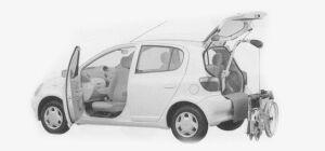 Toyota Vitz WELCAB SWIVEL PASSENGER SEAT SPEC.B TYPE 1999 г.