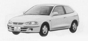 Mitsubishi Mirage MODARC LIMITED 1300 1999 г.